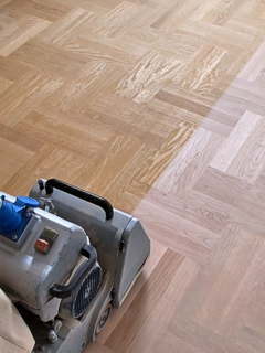 Floor refinishing project in St. Pauls